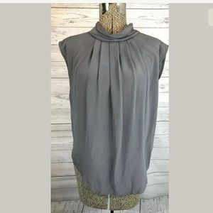 Hour size small gray 100% silk top blouse